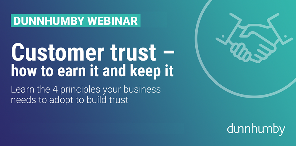 Webinar On Demand - Customer Trust