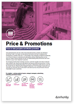 Promotions and Promotions Retail Solution & Strategy Brochure - dunnhumby