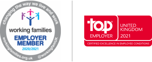 Working families Employer member and Top Employer UK 2021